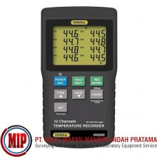 GENERAL DT4208SD Data Logging 12-Channel Thermometer